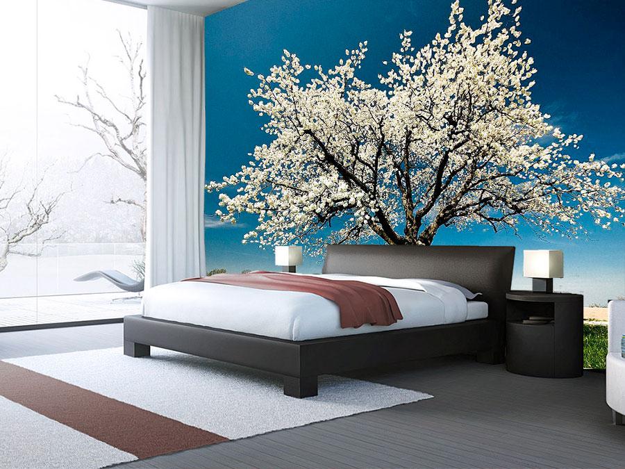 Fotomural decorativo arbol de cerezo blanco fotomurales - Vinilos de arboles ...
