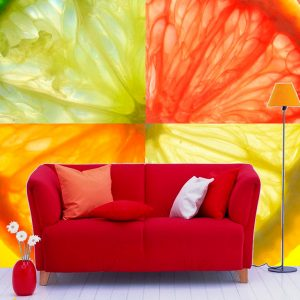 Fotomural Decorativo Naranja Cítrica
