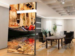 Fotomural Decorativo Gondola y Canal De Venecia