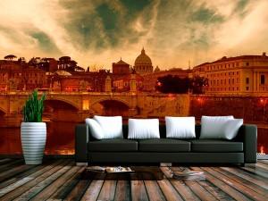 Fotomural Decorativo Puente sobre el Rio Italia