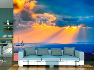 Fotomural Decorativo Luz de Nubes Marinas