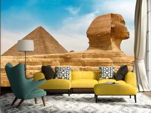 Fotomural Decorativo Esfinge y Piramides de Egipto