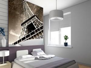 Fotomural Decorativo Torre Eiffel Sepia