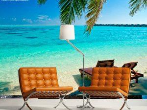 Fotomural Decorativo Playa Cristalina
