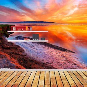 Fotomural Decorativo Luces del Mar