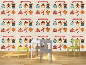 Fotomural Decorativo Infantil Animales Hipster