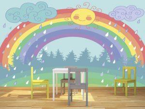 Fotomural Decorativo Infantil Arcoiris de Felicidad