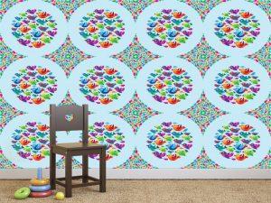 Fotomural Decorativo Infantil Burbuja de Pajaritos