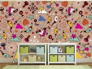 Fotomural Decorativo Infantil Doodles Divertidos