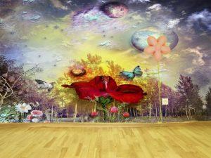 Fotomural Decorativo Infantil Mundo Mágico Surreal