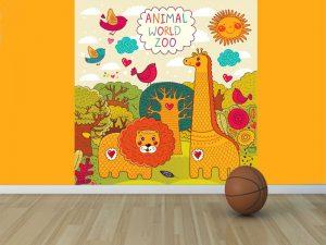 Fotomural Decorativo Infantil El zoologico feliz
