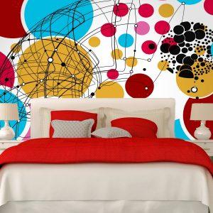 Fotomural Decorativo Diseños Abstractos: Circulos color
