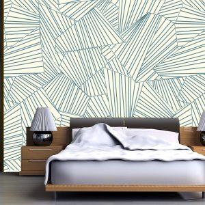 Fotomural Decorativo Diseños Abstractos: Rayado azul