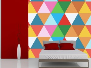 Fotomural Decorativo Diseños Abstractos: Triangulos de color