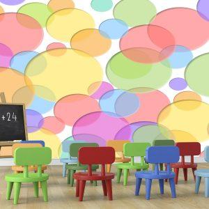 Fotomural Decorativo Diseños Abstractos: Burbujas de colores