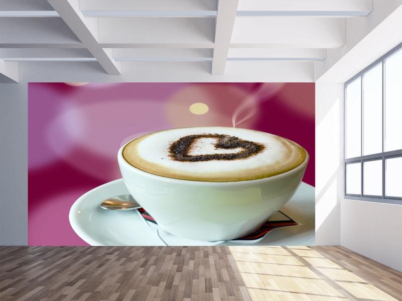 Fotomural cocinas y comedores love coffee - Fotomural para cocina ...