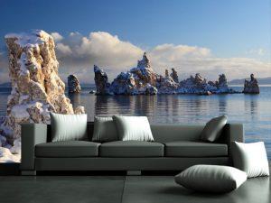 Fotomural Decorativo para Sala: Rocas Iceberg