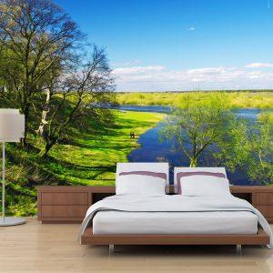 Fotomural Decorativo para Dormitorio: Vista al Lago