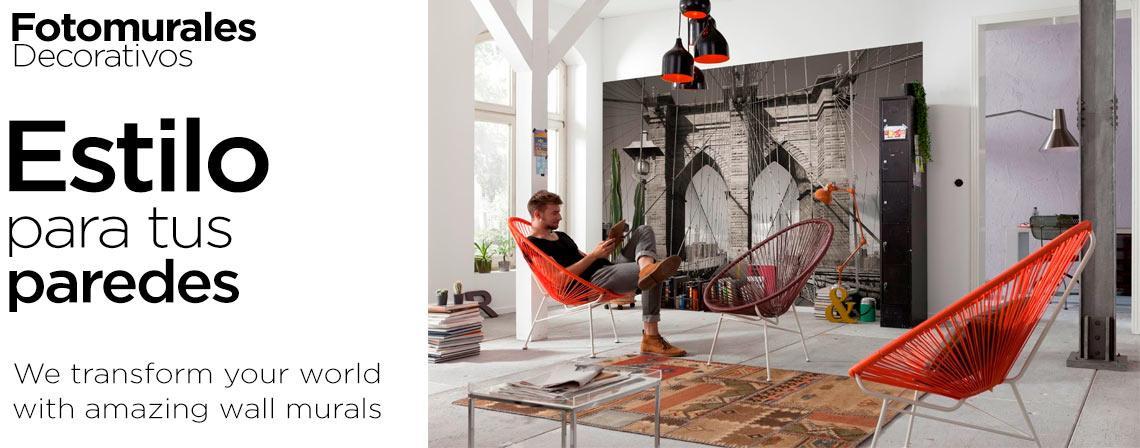 Estilo para tus paredes con fotomurales decorativos mexico - Fotomurales & Papel Tapiz México - Tienda Online Decoración Personalizada México