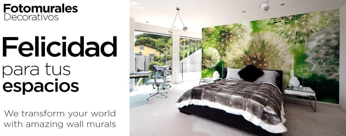Felicidad para tus espacios con fotomurales decorativos - Busca tu una Imagen para Tu Fotomural