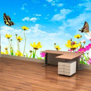 Fotomural Decorativo Mariposas Campestres