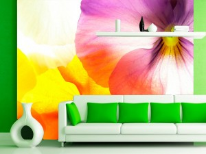 Fotomural Decorativo Flores a Contraluz