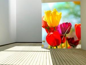 Fotomural Decorativo Tulipanes Primaverales
