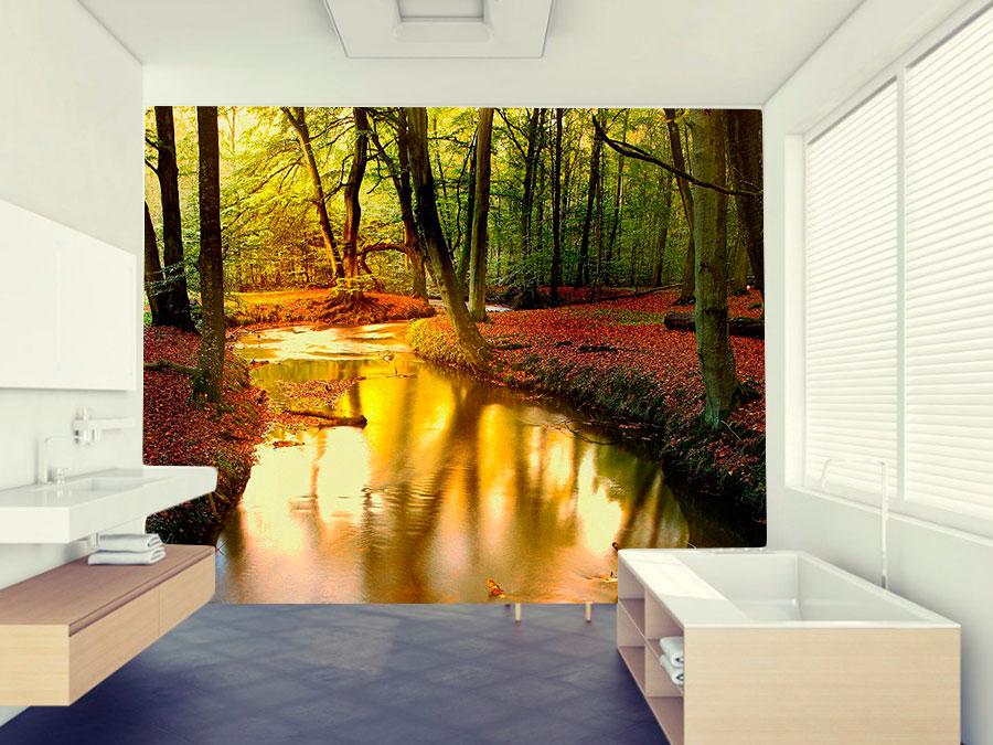 fotomural-bosque-rojo