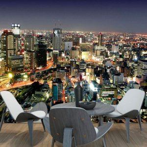 fotomural ciudad nocturna3 300x300 - Fotomurales de Ciudades y Urbanos