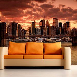 fotomural decorativo atardecer en nueva york  300x300 - Fotomurales de Ciudades y Urbanos