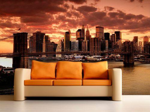 fotomural decorativo atardecer en nueva york  500x375 - Fotomurales de Ciudades y Urbanos