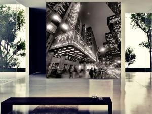fotomural decorativo broadway sepia 1 300x225 - Fotomurales de Ciudades y Urbanos