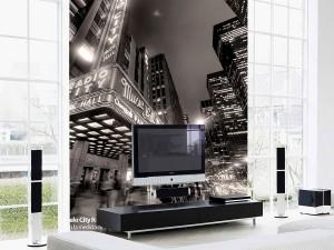fotomural decorativo broadway sepia 3 300x225 - Fotomurales de Ciudades y Urbanos