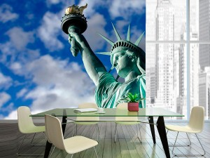 fotomural decorativo estatua de la libertad 300x225 - Fotomurales de Ciudades y Urbanos
