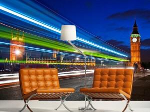 fotomural decorativo londres de noche big ben 300x225 - Fotomurales de Ciudades y Urbanos