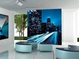 fotomural decorativo luces nocturnas de la ciudad 300x225 - Fotomurales de Ciudades y Urbanos