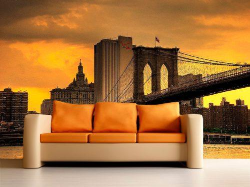 fotomural decorativo nueva york puente atardecer 2 500x375 - Fotomurales de Ciudades y Urbanos