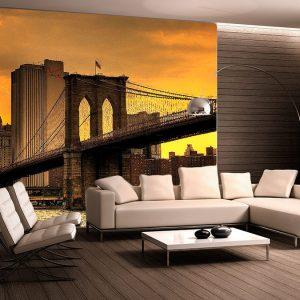 fotomural decorativo nueva york puente atardecer 300x300 - Fotomurales de Ciudades y Urbanos