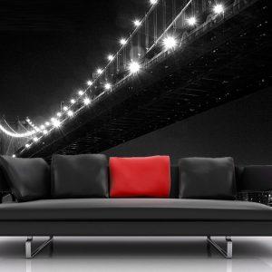 Fotomural Decorativo Puente de Brooklyn Blanco y Negro
