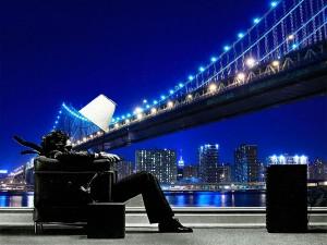 fotomural decorativo puente brooklyn nueva york color 1 300x225 - Fotomurales de Ciudades y Urbanos