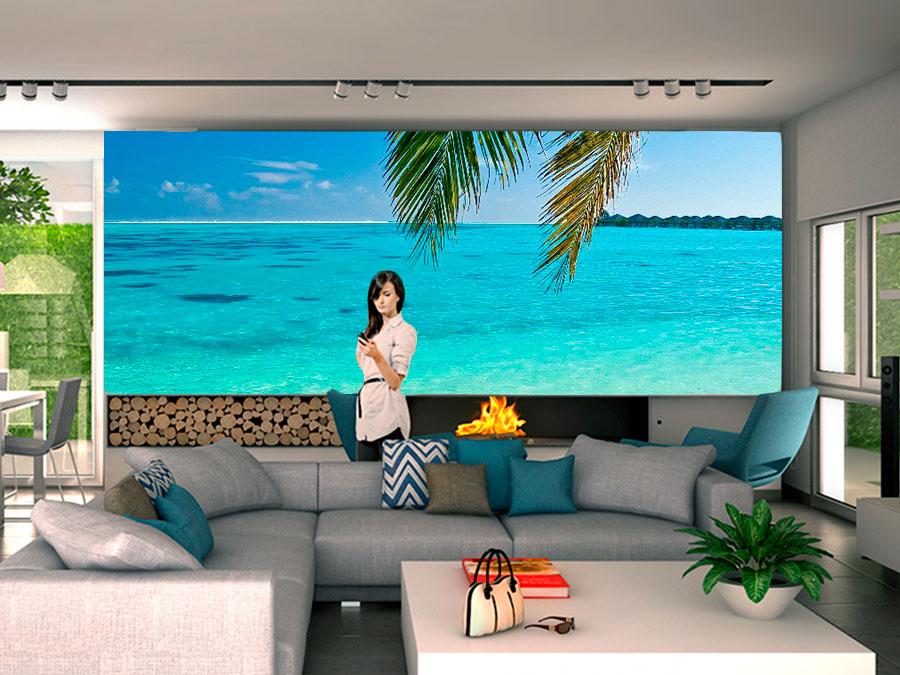 Fotomural decorativo playa cristalina fotomurales for Fotomurales naturaleza