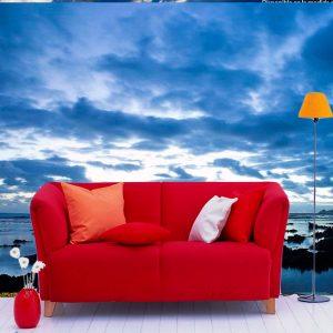 Fotomural Decorativo Amanecer en la Costa Marina