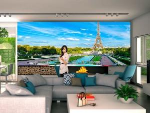 Fotomural Decorativo Panorama Paris Torre Eiffel