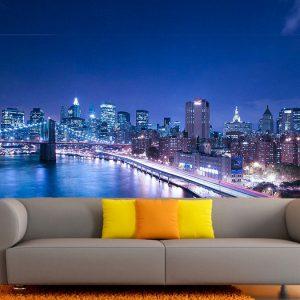 Fotomural Decorativo Ciudad Nueva York Puente Brooklyn