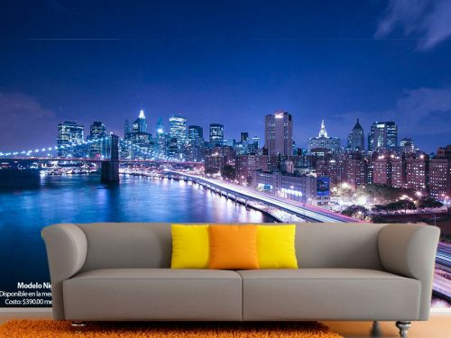 fotomural puente brooklyn nueva york 500x375 - Fotomurales de Ciudades y Urbanos