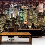 fotomural-rascacielos-nocturnos-nueva-york2