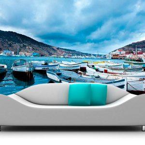 Fotomural Decorativo Botes en el Muelle