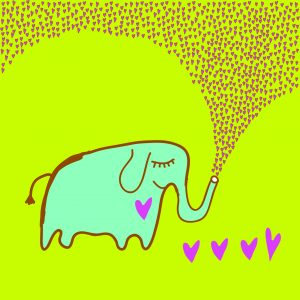 Fotomural Decorativo Infantil Elefantito lleno de amor