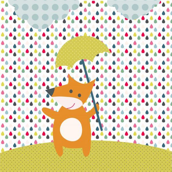 El zorro y la lluvia arcoiris
