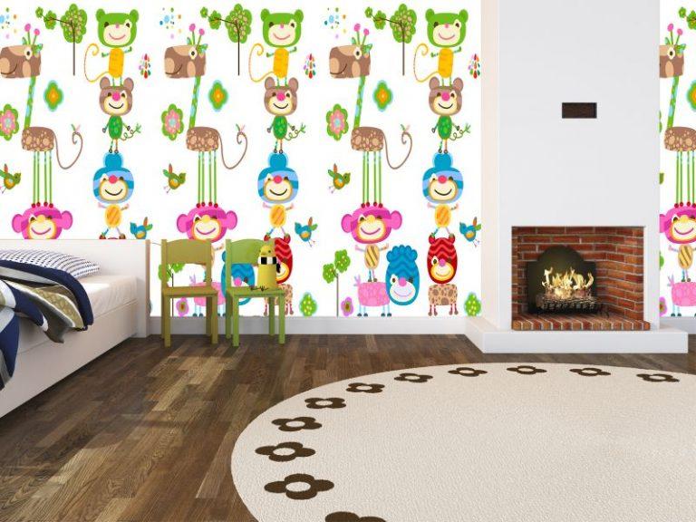 fotomural animales coloridos 2 768x576 - Fotomurales & Papel Tapiz Infantiles